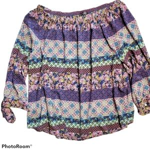 Hannah Off-the-Shoulder Frock Blouse 2X